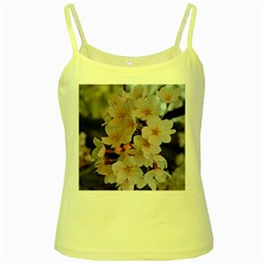 SAKURA Yellow Spaghetti Tanks by trendistuff