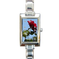 Red Rose 2 Rectangle Italian Charm Watches by trendistuff
