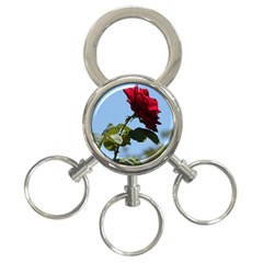 Red Rose 2 3 Ring Key Chains by trendistuff