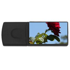 Red Rose 2 Usb Flash Drive Rectangular (4 Gb)  by trendistuff