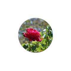 Red Rose 1 Golf Ball Marker (10 Pack) by trendistuff