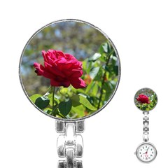 Red Rose 1 Stainless Steel Nurses Watches by trendistuff