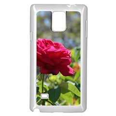 RED ROSE 1 Samsung Galaxy Note 4 Case (White) by trendistuff