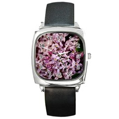 Purple Lilacs Square Metal Watches by trendistuff