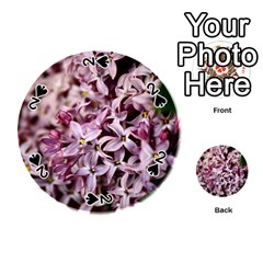 Purple Lilacs Playing Cards 54 (round)  by trendistuff