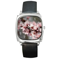 Plum Blossoms Square Metal Watches by trendistuff