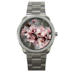 Plum Blossoms Sport Metal Watches by trendistuff