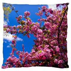 Pink Flowers Large Cushion Cases (two Sides)  by trendistuff
