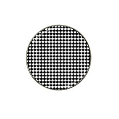 Black And White Scallop Repeat Pattern Hat Clip Ball Marker (4 Pack) by PaperandFrill