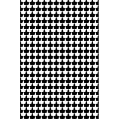 Black And White Scallop Repeat Pattern 5 5  X 8 5  Notebooks by PaperandFrill