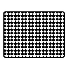 Black And White Scallop Repeat Pattern Fleece Blanket (small) by PaperandFrill