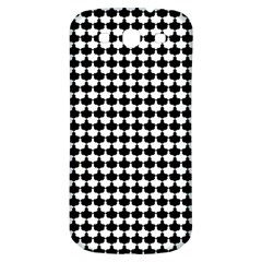 Black And White Scallop Repeat Pattern Samsung Galaxy S3 S Iii Classic Hardshell Back Case by PaperandFrill