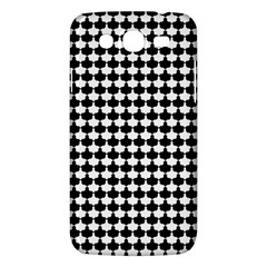 Black And White Scallop Repeat Pattern Samsung Galaxy Mega 5 8 I9152 Hardshell Case