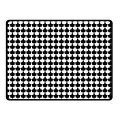 Black And White Scallop Repeat Pattern Double Sided Fleece Blanket (small)  by PaperandFrill