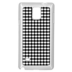 Black And White Scallop Repeat Pattern Samsung Galaxy Note 4 Case (white) by PaperandFrill