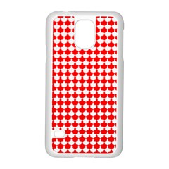 Red And White Scallop Repeat Pattern Samsung Galaxy S5 Case (white) by PaperandFrill