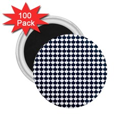 Navy And White Scallop Repeat Pattern 2 25  Magnets (100 Pack)  by PaperandFrill