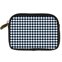 Navy And White Scallop Repeat Pattern Digital Camera Cases by PaperandFrill