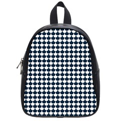 Navy And White Scallop Repeat Pattern School Bags (Small)  by PaperandFrill