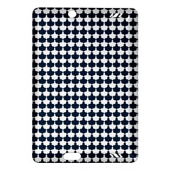 Navy And White Scallop Repeat Pattern Kindle Fire Hd (2013) Hardshell Case by PaperandFrill