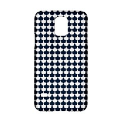 Navy And White Scallop Repeat Pattern Samsung Galaxy S5 Hardshell Case