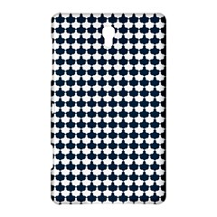 Navy And White Scallop Repeat Pattern Samsung Galaxy Tab S (8.4 ) Hardshell Case  by PaperandFrill