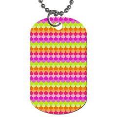 Scallop Pattern Repeat In 'la' Bright Colors Dog Tag (two Sides) by PaperandFrill