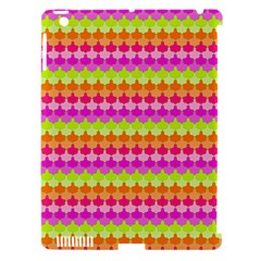 Scallop Pattern Repeat In 'la' Bright Colors Apple iPad 3/4 Hardshell Case (Compatible with Smart Cover) by PaperandFrill