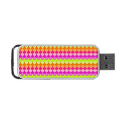 Scallop Pattern Repeat In 'la' Bright Colors Portable Usb Flash (two Sides) by PaperandFrill