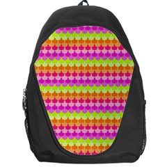 Scallop Pattern Repeat In 'la' Bright Colors Backpack Bag by PaperandFrill