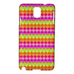 Scallop Pattern Repeat In 'la' Bright Colors Samsung Galaxy Note 3 N9005 Hardshell Case by PaperandFrill