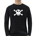 Skull & Crossbones Long Sleeve Dark T-Shirts