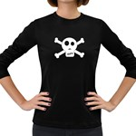 Skull & Crossbones Women s Long Sleeve Dark T-Shirts