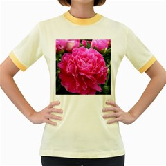 PAEONIA ELEANOR Women s Fitted Ringer T-Shirts by trendistuff