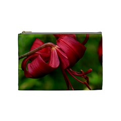 Lilium Red Velvet Cosmetic Bag (medium)  by trendistuff