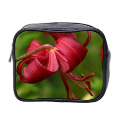 Lilium Red Velvet Mini Toiletries Bag 2 Side by trendistuff