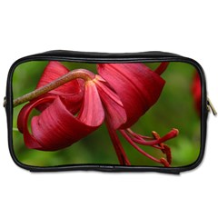 Lilium Red Velvet Toiletries Bags by trendistuff