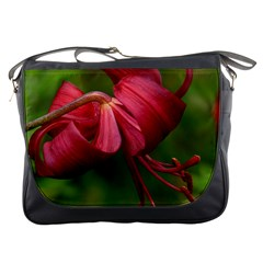 Lilium Red Velvet Messenger Bags by trendistuff