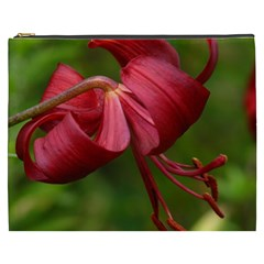 Lilium Red Velvet Cosmetic Bag (xxxl)  by trendistuff