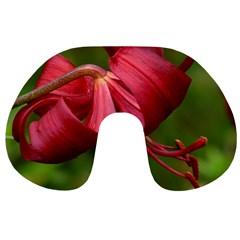 Lilium Red Velvet Travel Neck Pillows by trendistuff