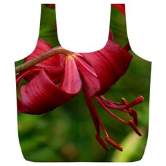 Lilium Red Velvet Full Print Recycle Bags (l)  by trendistuff