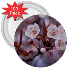 CHERRY BLOSSOMS 3  Buttons (100 pack)  by trendistuff