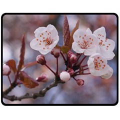 Cherry Blossoms Double Sided Fleece Blanket (medium)  by trendistuff