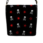 Stars, Skulls & Crossbones Flap Messenger Bag (L)