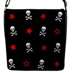 Stars, Skulls & Crossbones Flap Messenger Bag (S)