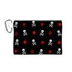 Stars, Skulls & Crossbones Canvas Cosmetic Bag (M)