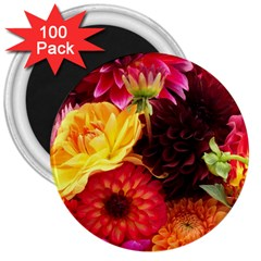 BUNCH OF FLOWERS 3  Magnets (100 pack) by trendistuff