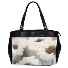 Black And White Flower Office Handbags (2 Sides)  by trendistuff