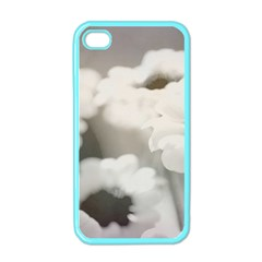 Black And White Flower Apple Iphone 4 Case (color) by trendistuff