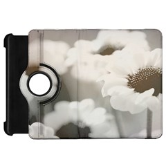 Black And White Flower Kindle Fire Hd Flip 360 Case by trendistuff
